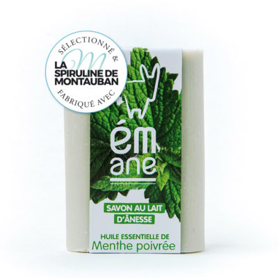 Découvrez le savon au lait d'anesse sélectionné et fabriqué avec la Spiruline de Montauban.