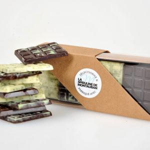 Assortiment de 20 mini tablettes de chocolat et spiruline de Montauban