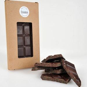 Spiruline de Montauban présente sa tablette chocolat noir et spiruline fraîche.