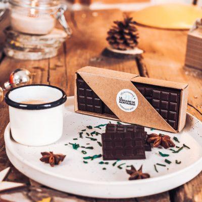 Mini Tablette au chocolat noir à la Spiruline de Montauban